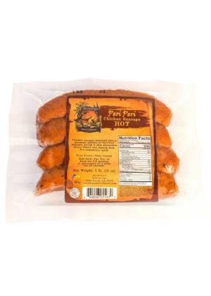 Peri Peri Hot Chicken Sausage 4 pack